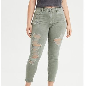 american eagle high waisted jegging crop size 20s